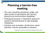 planning a barrier free meeting