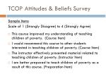 tcop attitudes beliefs survey