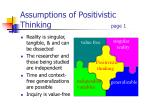 assumptions of positivistic thinking page 1