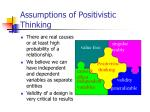 assumptions of positivistic thinking