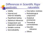 differences in scientific rigor positivistic naturalistic