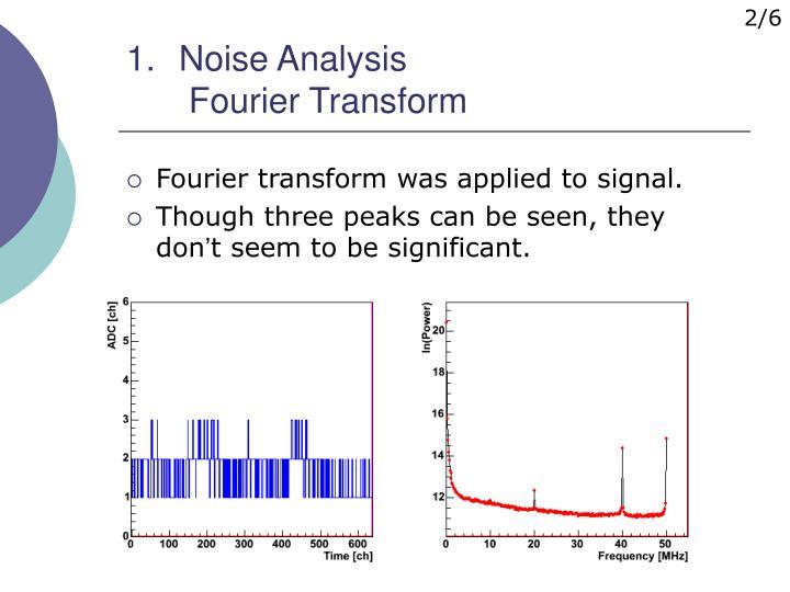 Noise analysis fourier transform