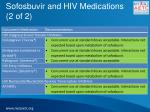 sofosbuvir and hiv medications 2 of 2