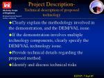 project description technical description of proposed technology1