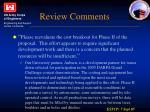 review comments1