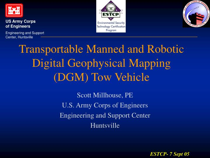 transportable manned and robotic digital geophysical mapping dgm tow vehicle n.