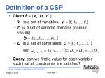 definition of a csp