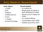 army values vs sexual assault