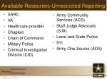 available resources unrestricted reporting