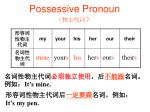 possessive pronoun