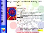 can you identify the color scheme in the image below is it a
