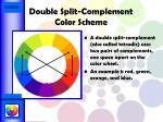 double split complement color scheme