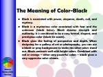 the meaning of color black