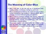the meaning of color blue