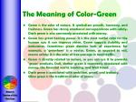 the meaning of color green
