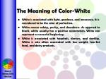 the meaning of color white