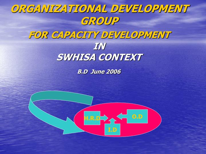 organizational development group for capacity development in swhisa context b d june 2006 n.
