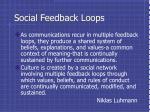 social feedback loops