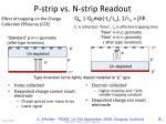 p strip vs n strip readout