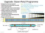 upgrade stave petal programme