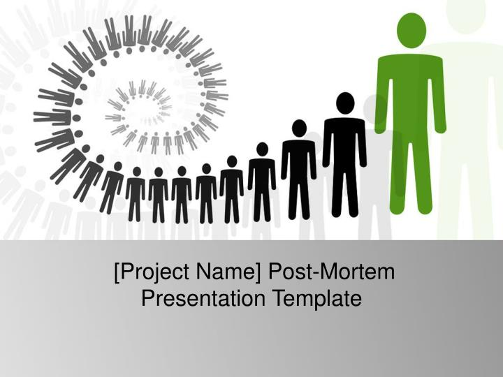 project name post mortem presentation template n.