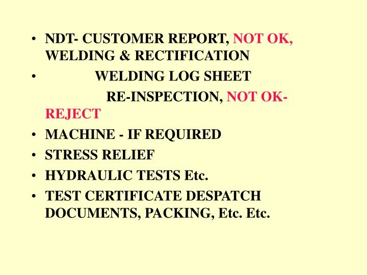 NDT- CUSTOMER REPORT,