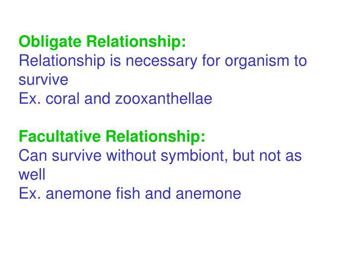 Obligate Relationship: