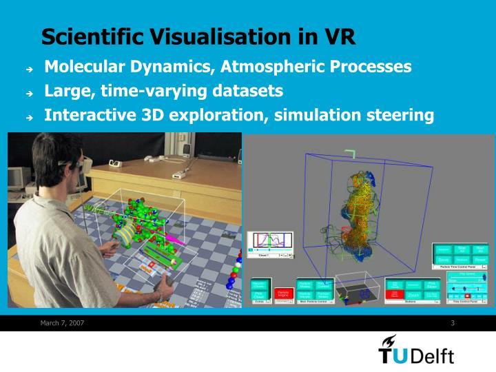 Scientific visualisation in vr