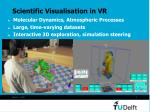 scientific visualisation in vr