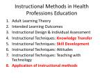 instructional methods in health professions education1