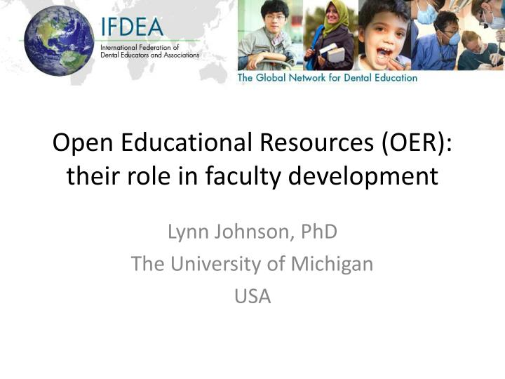 open educational resources oer their role in faculty development n.