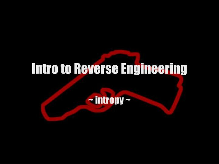 intro to reverse engineering n.
