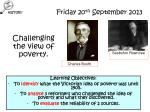 challenging the view of poverty