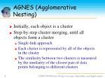 agnes agglomerative nesting