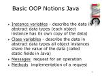 basic oop notions java