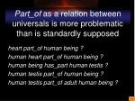 part of as a relation between universals is more problematic than is standardly supposed