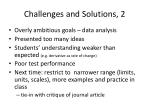 challenges and solutions 2