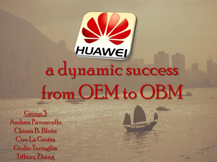 a dynamic success from oem to obm n.