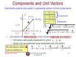 components and unit vectors