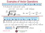examples of vector operations