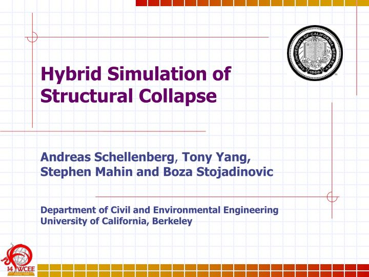 hybrid simulation of structural collapse n.