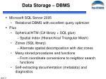 data storage dbms