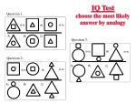 iq test choose the most likely answer by analogy