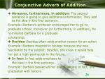 conjunctive adverb of addition