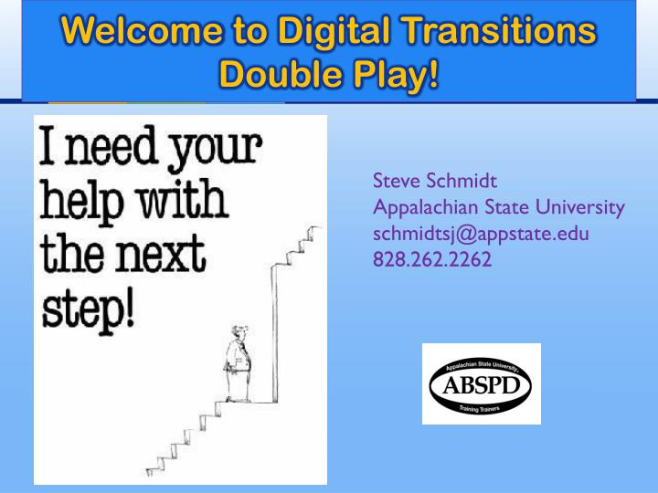 welcome to digital transitions double play n.