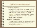 modular programming cont d