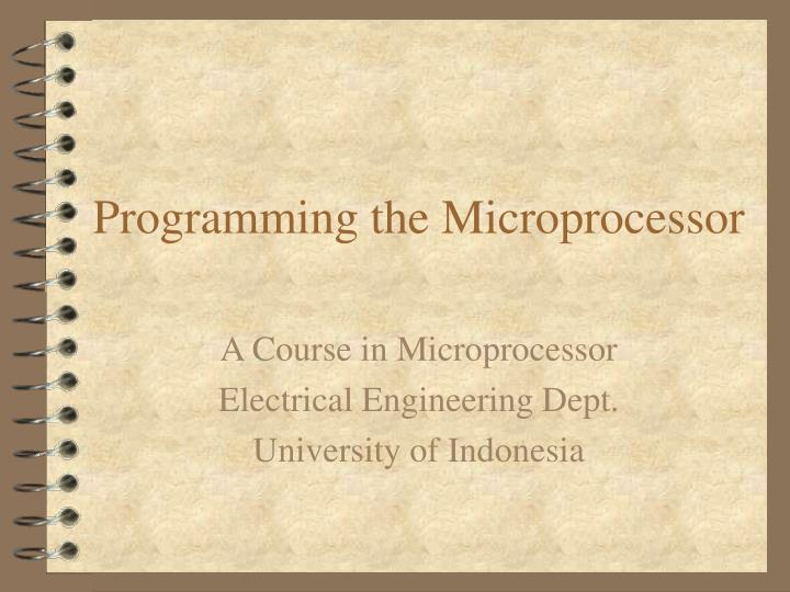 programming the microprocessor n.