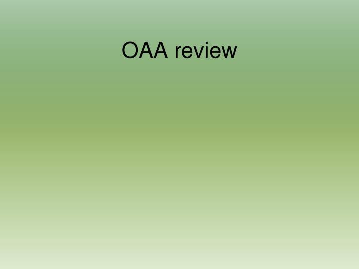 oaa review n.