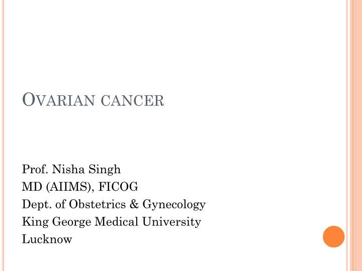 Ppt Ovarian Cancer Powerpoint Presentation Free Download Id 6863857