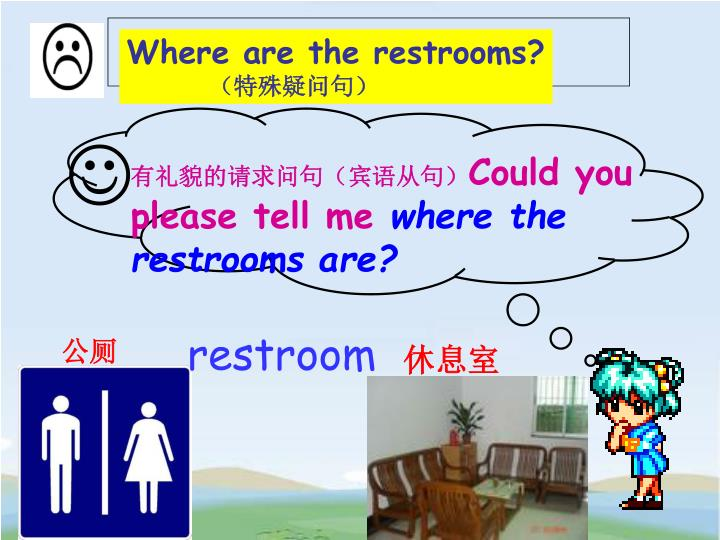Where are the restrooms?
